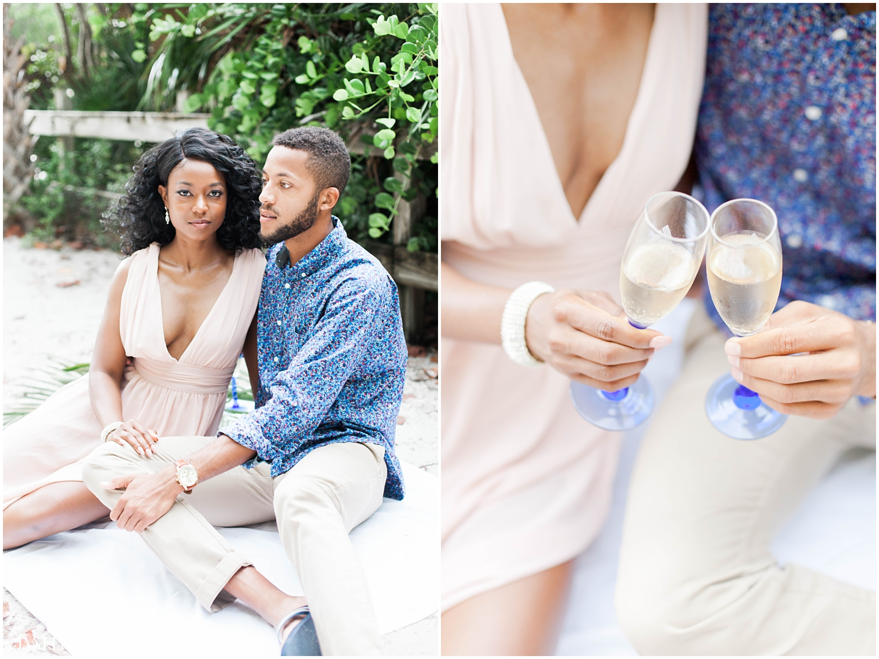 Miami Wedding Photographer - Beach Engagement - Janelle C Photography_001